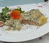 Lachsforellen - Lasagne mit Dillcreme (Bild)