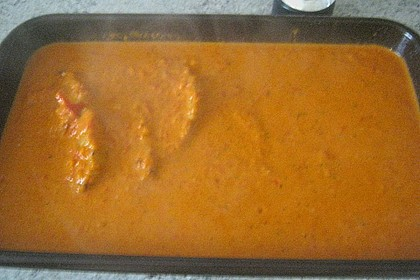 Schnitzel in Paprika - Rahmsauce 12
