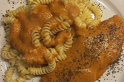 Schnitzel in Paprika - Rahmsauce 6