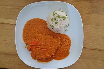 Schnitzel in Paprika - Rahmsauce 9