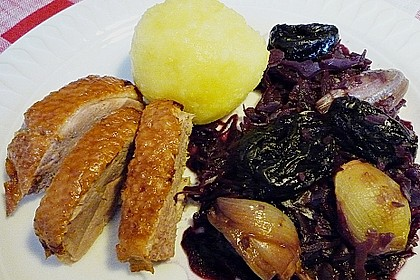 Schalotten - Rotkohl mit Backpflaumen