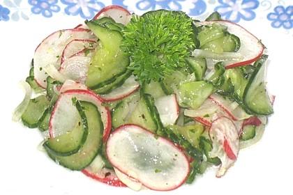 Radieschen - Gurken Salat (Bild)