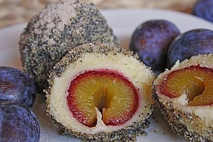Obstknödel mit Topfenteig