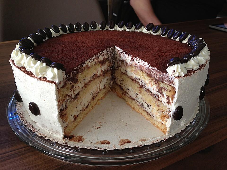 Tiramisu Torte Mit Amaretto Von Knoedelmaus Chefkoch De