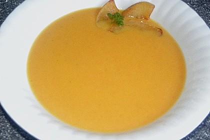Möhrensuppe mit Apfel und Ingwer 10