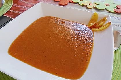 Möhrensuppe mit Apfel und Ingwer 3