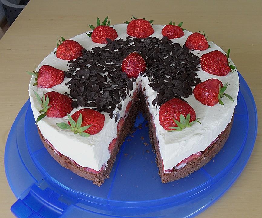 Erdbeer Mascarpone Torte Von Fantaluda Chefkoch De