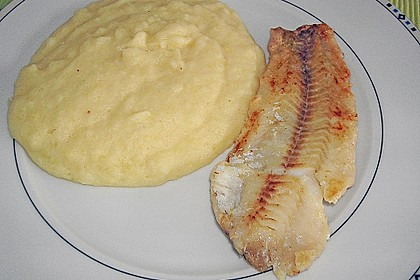 Schollenfilet mit Kohlrabi - Kartoffelpüree