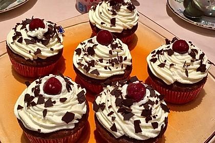 Schwarzwälder Kirsch Cupcakes 5