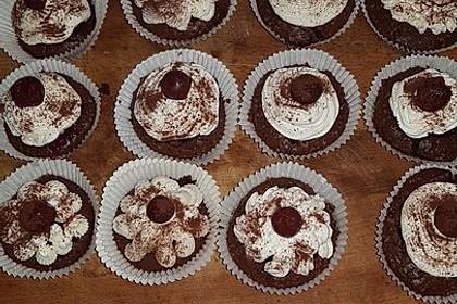Schwarzwälder Kirsch Cupcakes 160