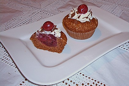 Schwarzwälder Kirsch Cupcakes 188