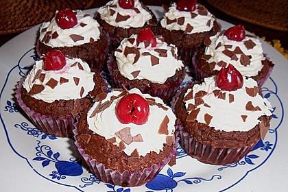 Schwarzwälder Kirsch Cupcakes 180