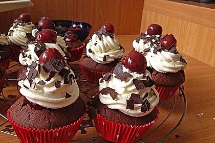 Schwarzwälder Kirsch Cupcakes 52