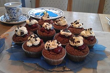 Schwarzwälder Kirsch Cupcakes 206