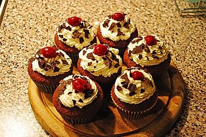 Schwarzwälder Kirsch Cupcakes 114