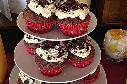Schwarzwälder Kirsch Cupcakes 142