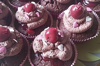 Schwarzwälder Kirsch Cupcakes 197
