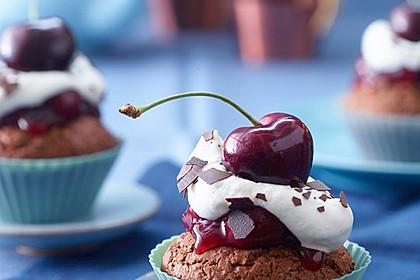 Schwarzwälder Kirsch Cupcakes 1