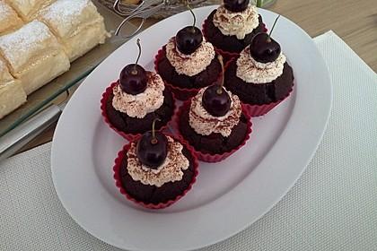 Schwarzwälder Kirsch Cupcakes 64