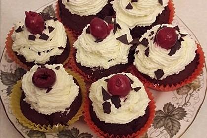 Schwarzwälder Kirsch Cupcakes 162