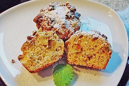 Rhabarber Muffins mit Streuseln 1