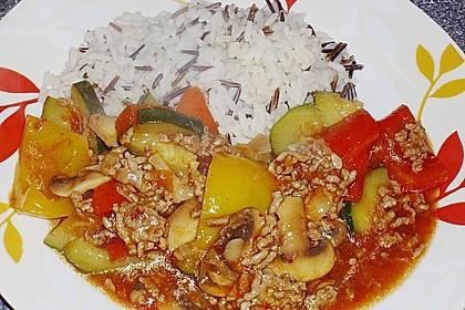 Hackfleisch - Gemüse - Pfanne 21