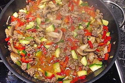 Hackfleisch - Gemüse - Pfanne 11