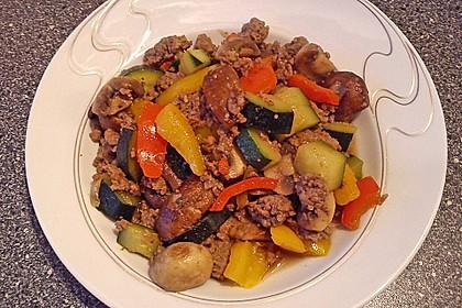Hackfleisch - Gemüse - Pfanne 9