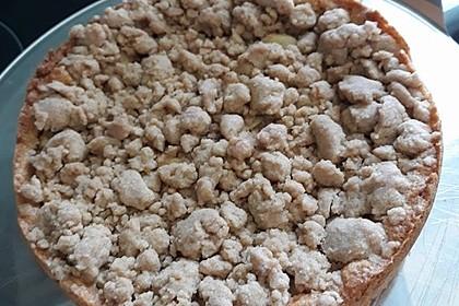 Apfelmus - Vanillepudding - Kuchen (Bild)