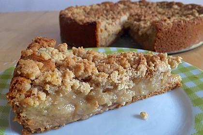 Apfelmus - Vanillepudding - Kuchen 12