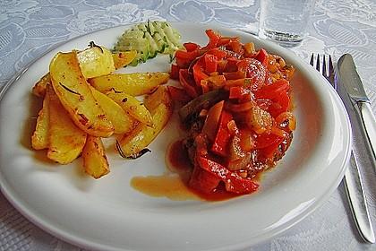 Backofenkartoffelspalten - würzig - feurig