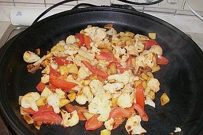 Gebratener Blumenkohl mit Kartoffeln 7