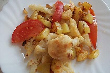 Gebratener Blumenkohl mit Kartoffeln 2