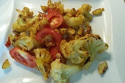 Gebratener Blumenkohl mit Kartoffeln 3
