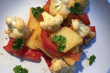 Gebratener Blumenkohl mit Kartoffeln 5