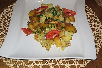 Gebratener Blumenkohl mit Kartoffeln 4