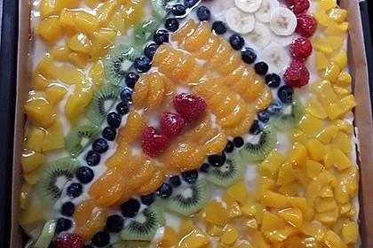 Blechkuchen mit Obst zur Einschulung (Bild)
