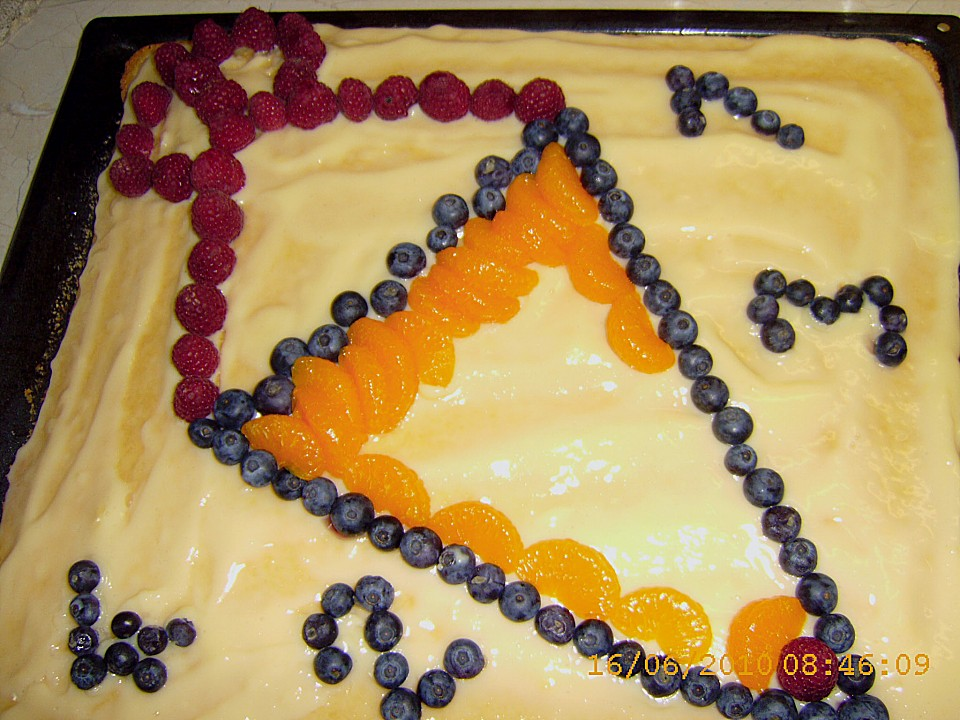 Blechkuchen Mit Obst Zur Einschulung Von Elkepeter Chefkochde