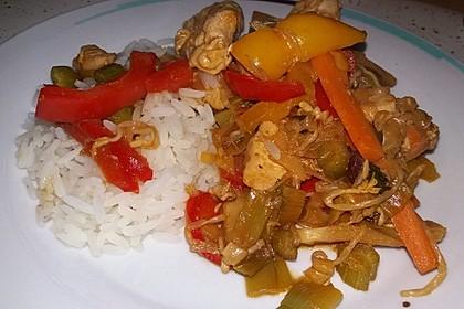 Gebratene Hühnerbrust mit Ingwer - Gemüse 2