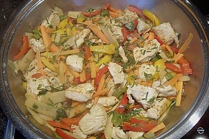Gebratene Hühnerbrust mit Ingwer - Gemüse 3