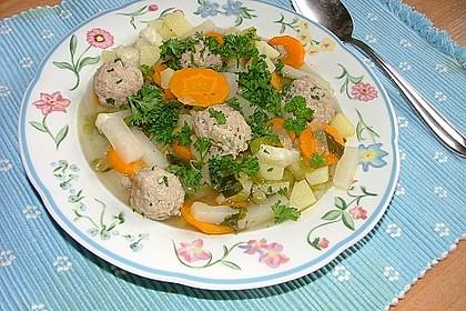 Gemüsesuppe mit Grünkernklößchen 6