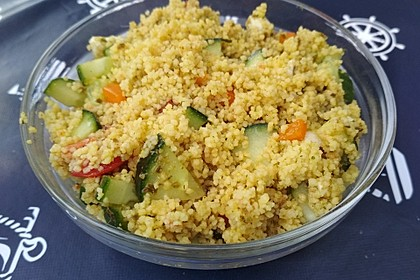 Couscous Salat mit Pesto 5