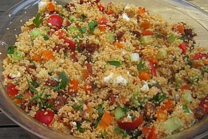 Couscous Salat mit Pesto 6