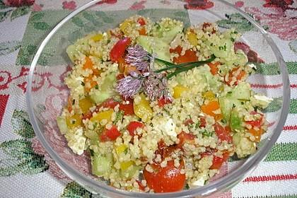 Couscous Salat mit Pesto 4