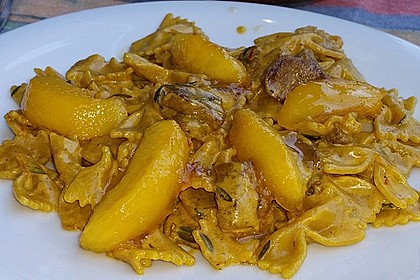 Linguine mit Safran - Mandel - Soße