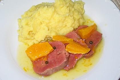 Rinderzunge in pikanter Orangensauce 1