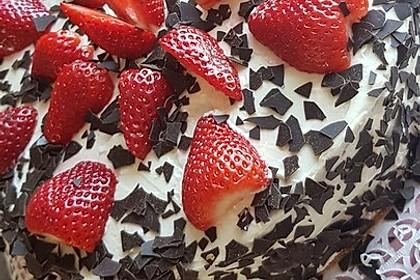 Schnelle Erdbeer - Mascarpone - Torte 40