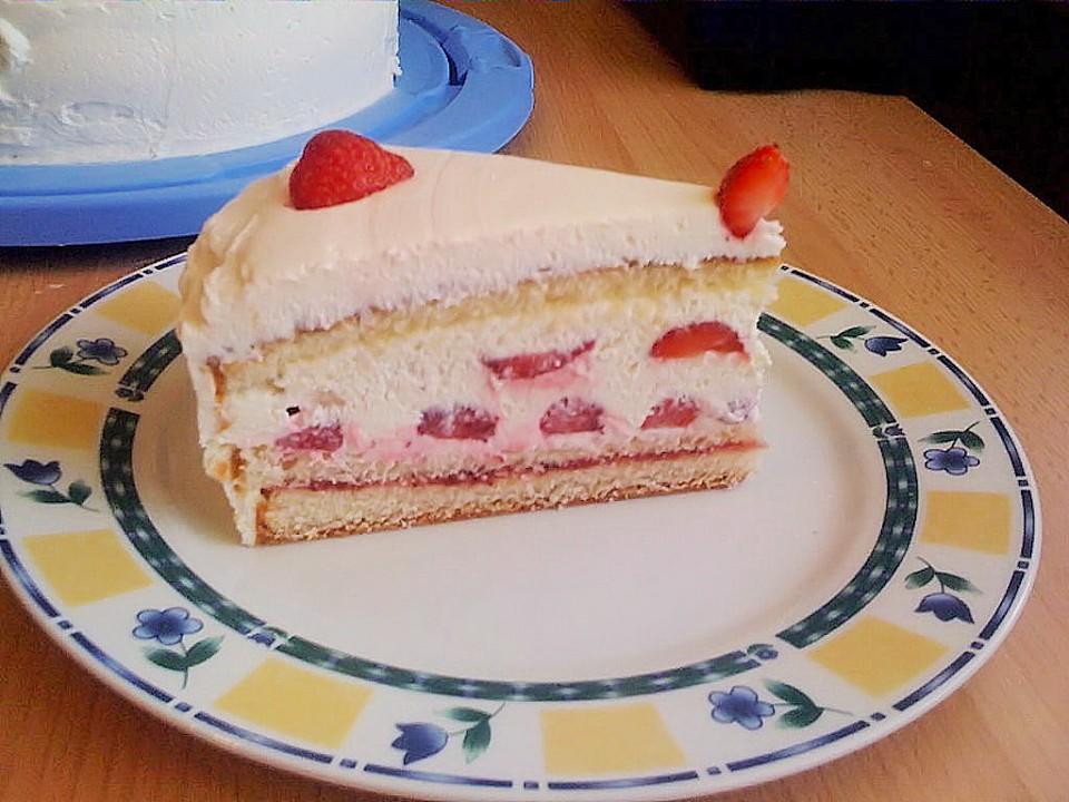 Schnelle Erdbeer Mascarpone Torte Von S Fletcher Chefkoch De