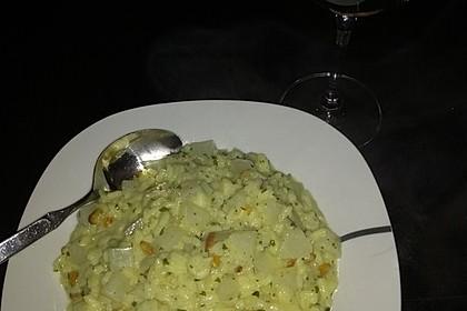 Kohlrabi-Risotto mit Pinienkernen (Bild)