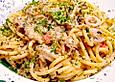 Meeresfrüchte in Sahnesauce mit Spaghetti